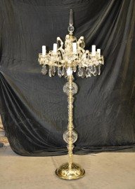 The high Maria Theresa Floor lamp with 10 arms & the crystal spike