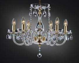 The glass cut chandelier LUISA