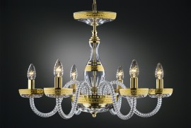 The glass chandelier RITA